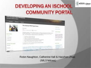 Developing an iSchool Community Portal